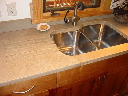 how to make slurry concrete countertops