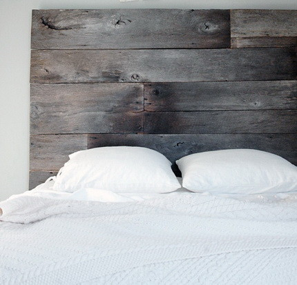 Headboard Made With Recycled Wood