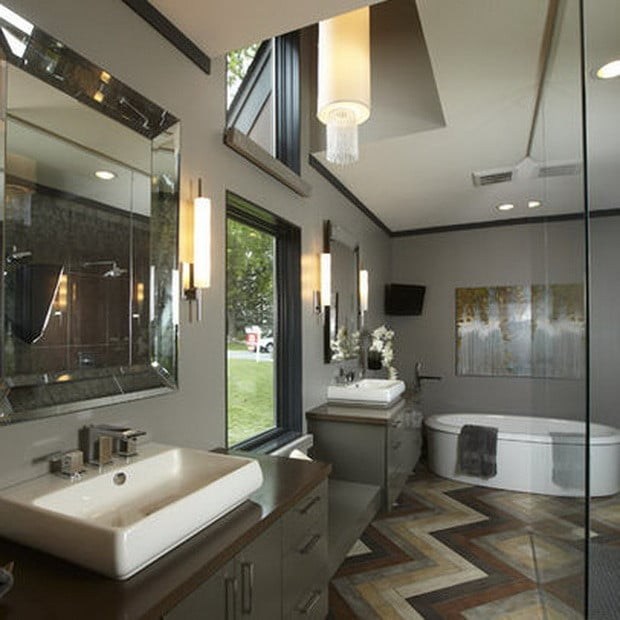 Masculine Master Baths: 51 Ultra Modern Luxury Bathrooms