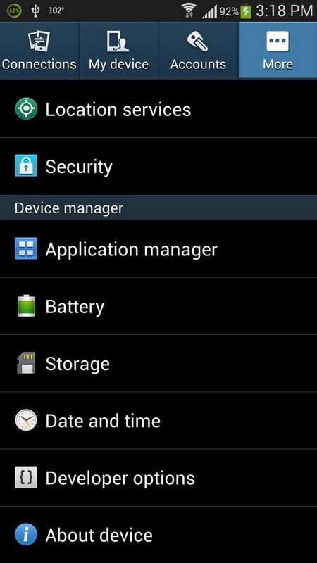 about device samsung s4
