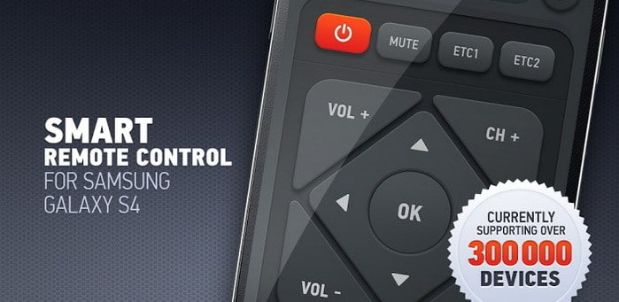 best tv and stereo remote control IR for samsung s4