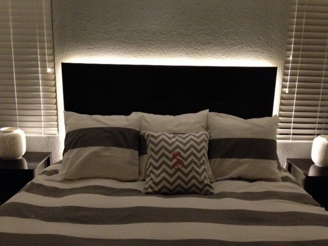 diy headboard with led lighting_2