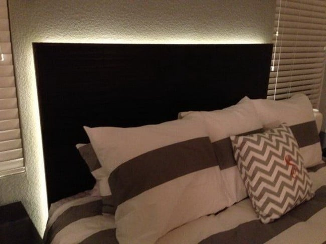How To Make a Floating Headboard With LED Lighting : RemoveandReplace.com