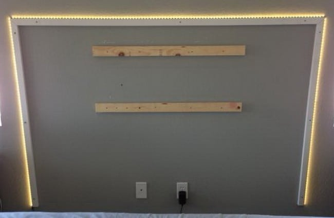 diy headboard with led lighting_5