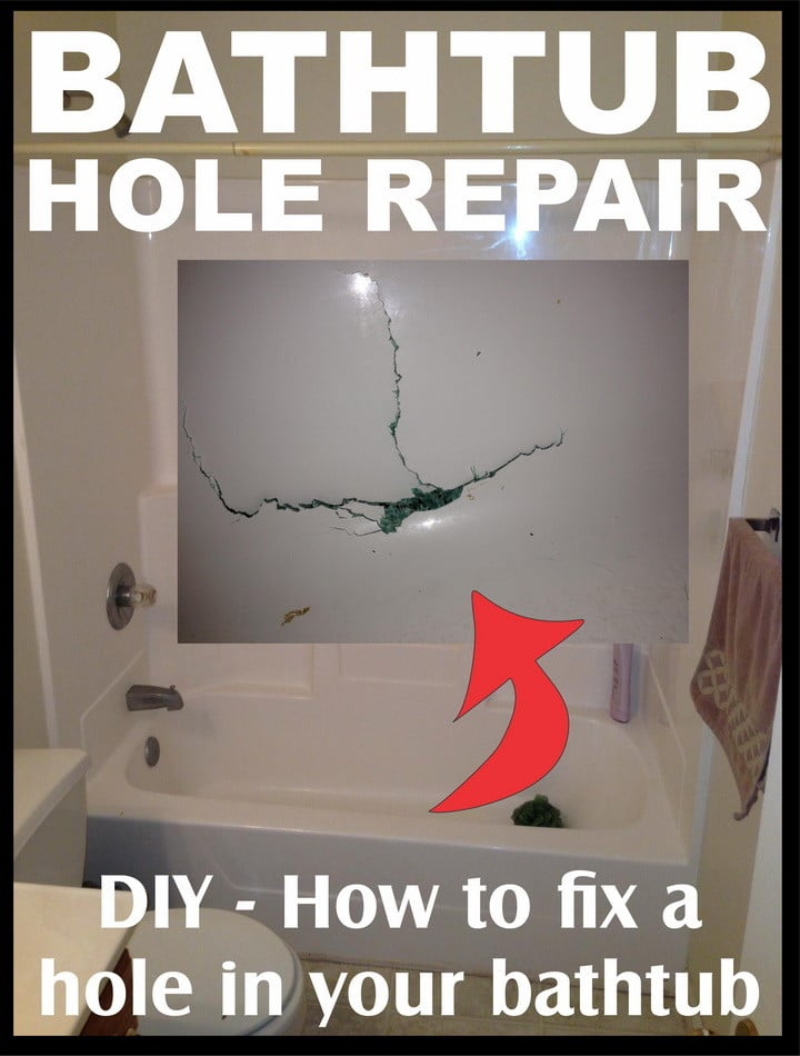 How To Fix A Hole In The Bathtub DIY | RemoveandReplace.com