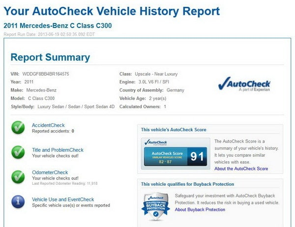 How to run a free vehicle history report uk
