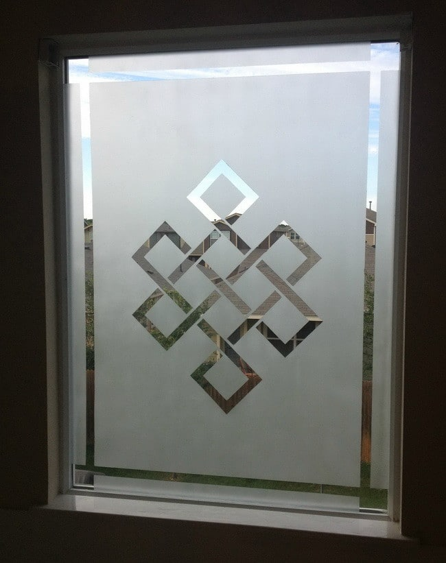 How to frost a window for privacy frosted window diy for Window glass design images
