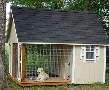 How to build a dog house step by step - Small dog house blueprints ...