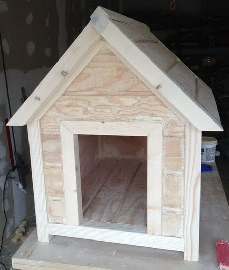How to build a dog house step by step for Dog kennel shed combo plans