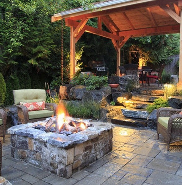 61 backyard patio ideas pictures of patios for Back garden patio ideas
