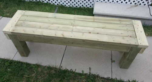 ... . The easy to build DIY wooden patio bench is as sturdy as a rock