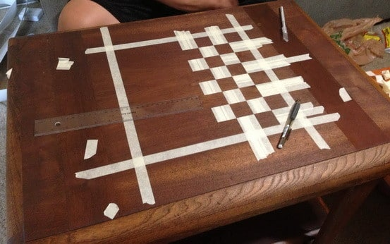 How To Make A Chess Board From An Old Table_03