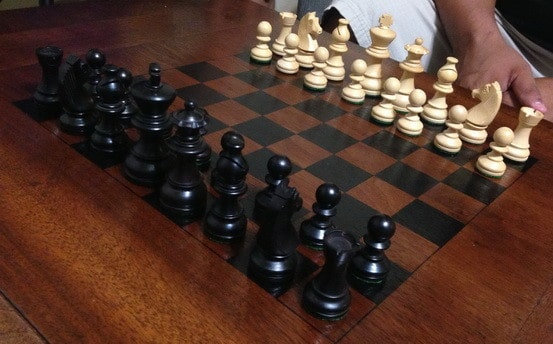 How To Make A Chess Board From An Old Table_09