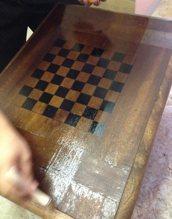 How To Make A Chess Board From An Old Table_11