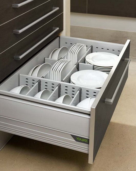 35 kitchen drawer organizing ideas diy organized living - Organizador de cajones ikea ...