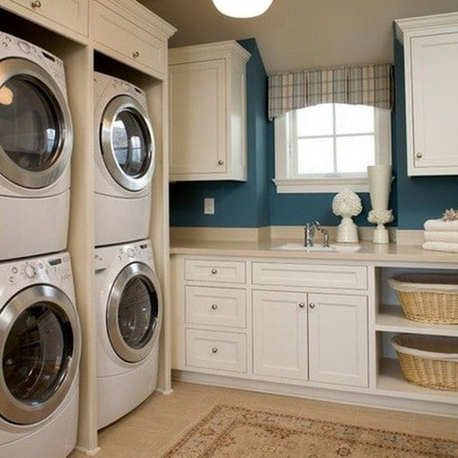 Small Laundry Room Ideas Stackable Hanging Racks