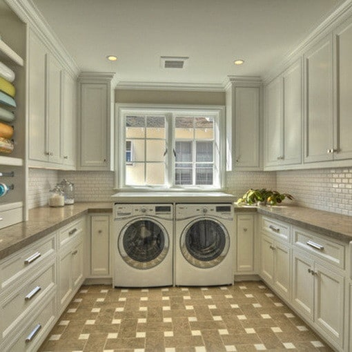 In Large Laundry Rooms, Wrap Around Cabinets, Counters, And Shelves Provide  All The Storage Youu0027ll Ever Need!