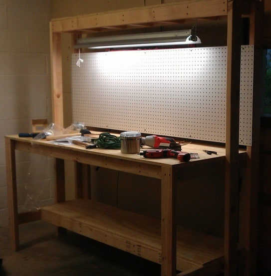 Do It Yourself Garage Workbench Plans: How To Build A Workbench For Your Garage To Get Organized