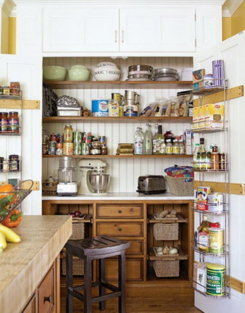 31 kitchen pantry organization ideas storage solutions for Hidden kitchen storage ideas
