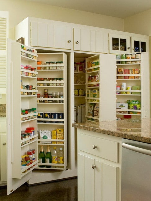 31 kitchen pantry organization ideas storage solutions for Ideas organizing kitchen cabinets