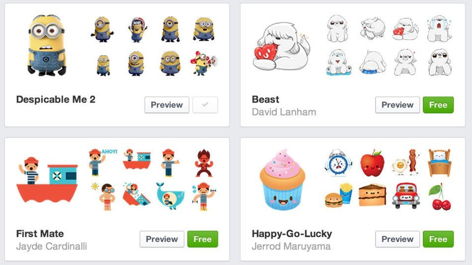 new facebook stickers