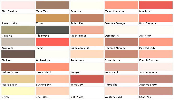 Paint Sample Colors Chart 5