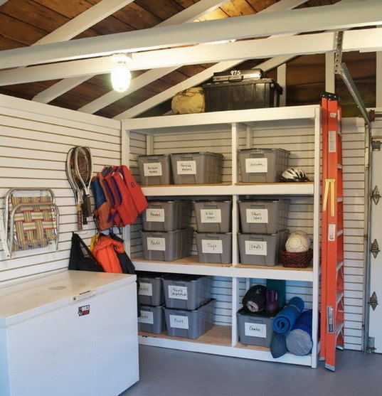 Garage Organization Shelving: 19 Garage Organization And DIY Storage Ideas