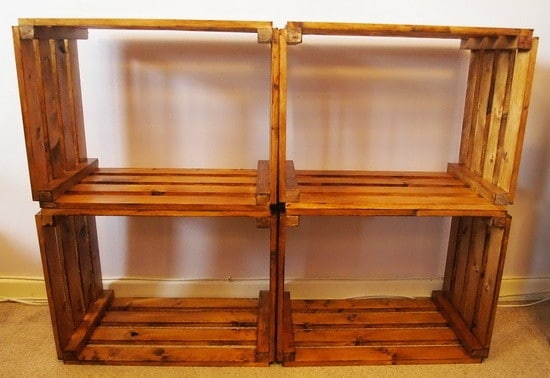 How To Make A Bookcase From A Craft Crate_1