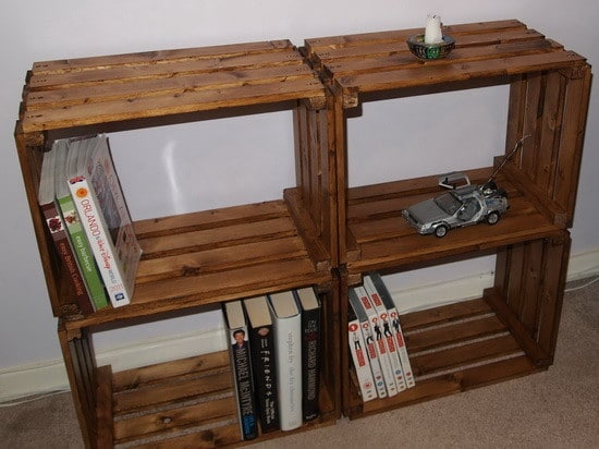 How To Make A Bookcase From A Craft Crate_5