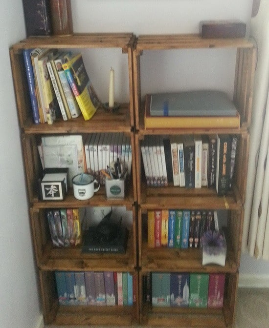 How To Make A Bookcase From A Craft Crate_7