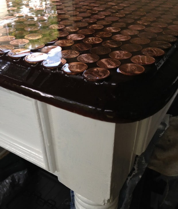 How To Make A Penny Top Coffee Table_02
