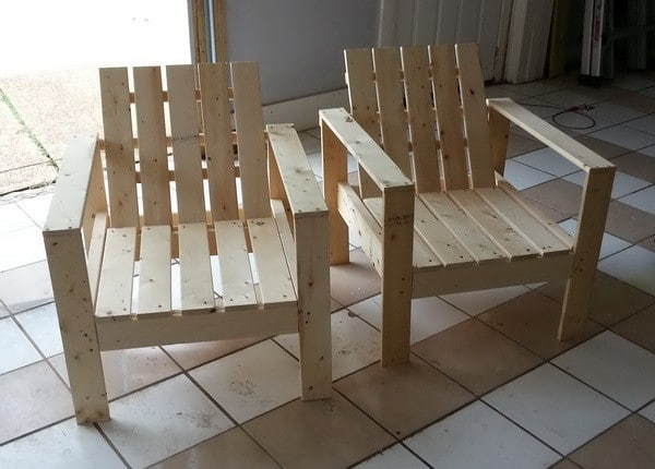 how to build a simple diy outdoor patio lounge chair