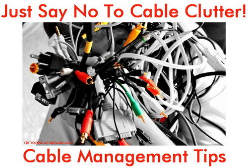 Cable management solutions tips to organize your cables - How to mask cables ingenious solutions ...