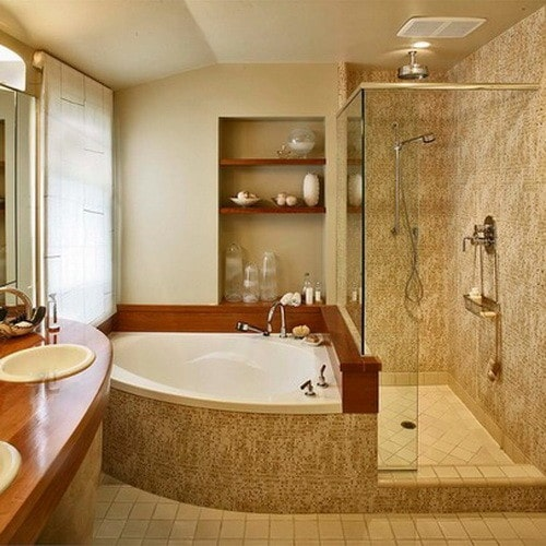 50 amazing bathroom bathtub ideas for Bathroom jacuzzi decor