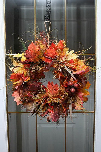 52 Fall Wreath Ideas_26