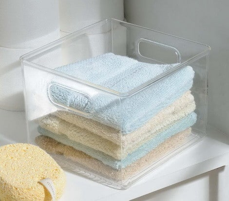 Bath Bin for Storage and Organization