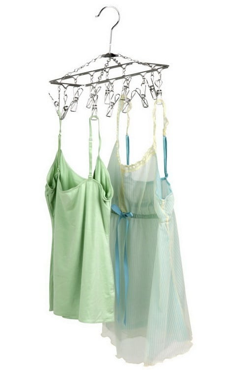 Bathroom Clothes Drying Hanger Rack with 12 Clips