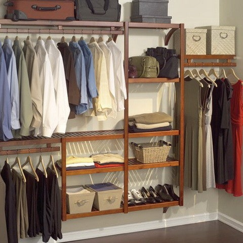 bedroom closet add in organization system