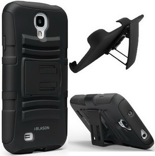 Best Samsung S4 Case - Dual Layer Holster Case Kick Stand Compatible with Samsung Galaxy S4