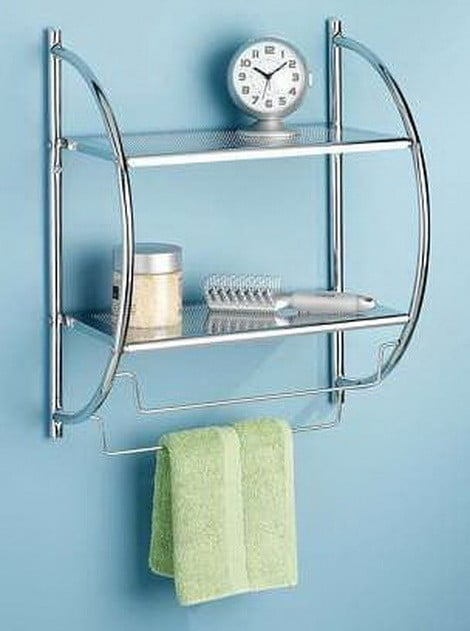 Chrome 2-Tier Shelf and Towel Rack
