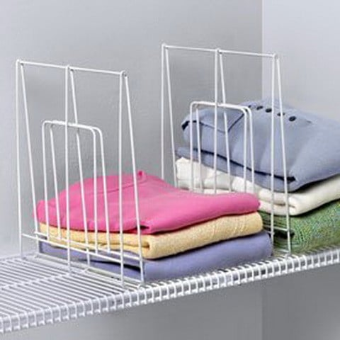 Closet Organization Large Ventilated Shelf Divider