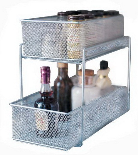 Design Ideas Cabinet Baskets Mesh