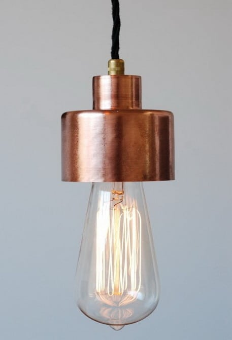 Edison Bulb Pendant Style Copper Hanging Light