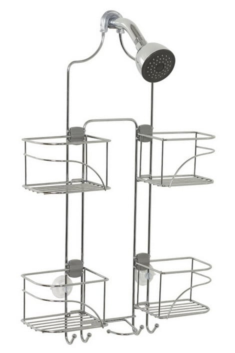 Expandable Shower Caddy for Hand Held Shower or Tall Bottles