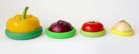 Food huggers - saves half used fruits and veggies