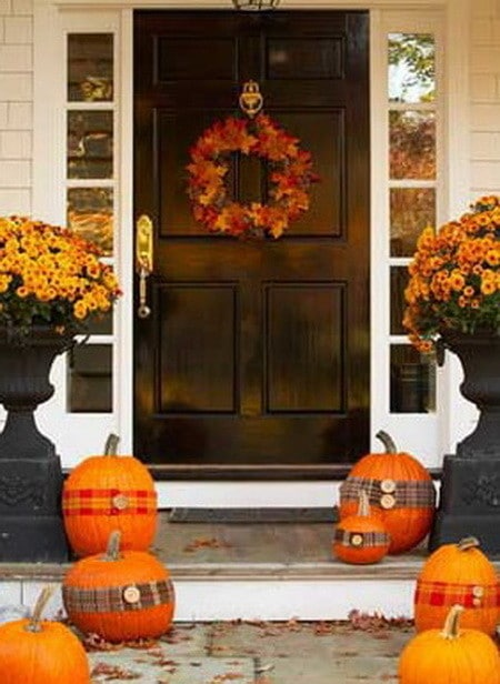 33 front porch decorating ideas for fall for Decoration veranda