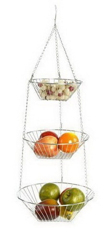 Hanging Wire 3-Tier Baskets