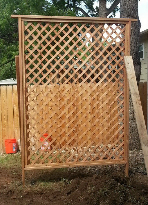 How to get added privacy in your backyard by building a for How to build a lattice screen fence