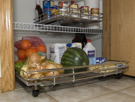 Kitchen Pantry Roll Out with Wheels
