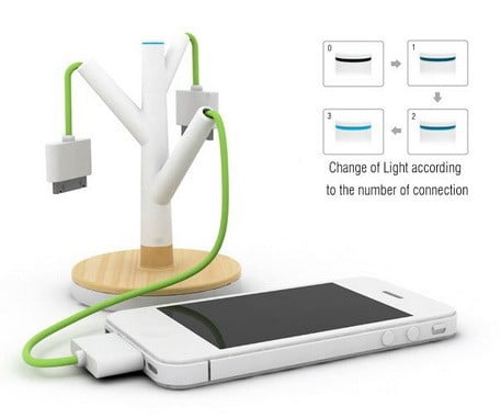 Mobile Device Charging Tree